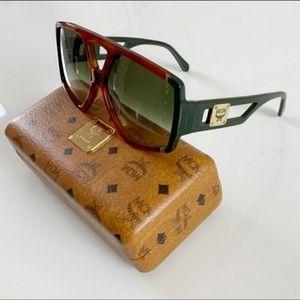 MCM Havana/ Olive Navigator Sunglasses